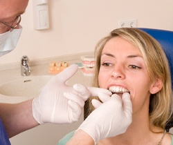 Woman receiving Invisalign
