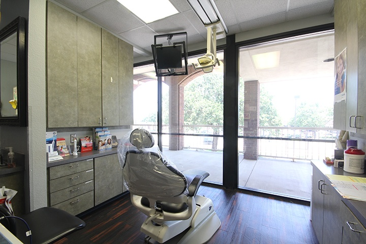 Dental treatment room with nice view